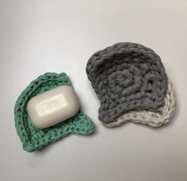 Ginkgo biloba levél alakú szappantartó szettben